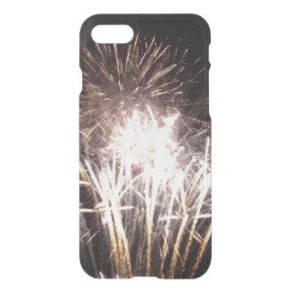 Funda Para iPhone 8/7 Blanco y fuegos artificiales del oro I