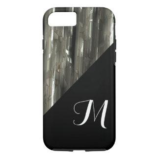 Funda Para iPhone 8/7 Bloques brillantes del metal con el monograma