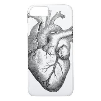 Funda Para iPhone 8/7 Bosquejo anatómico fresco del corazón del vintage