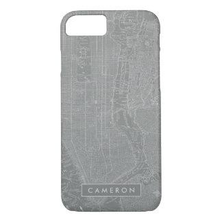 Funda Para iPhone 8/7 Bosquejo del mapa de New York City