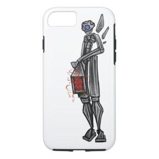 Funda Para iPhone 8/7 Bosquejo Geeky del artillero Mech del robot cerca: