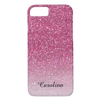 Funda Para iPhone 8/7 Brillo rosado, móvil personalizado