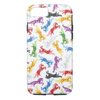 Funda Para iPhone 8/7 Caballos de salto coloreados del modelo