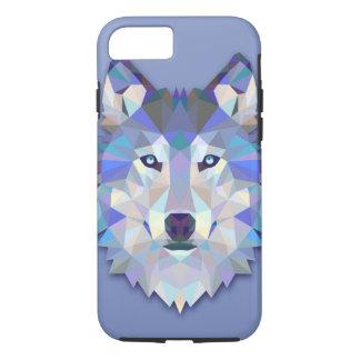 Funda Para iPhone 8/7 Cabeza geométrica del lobo del LOBO CRISTALINO