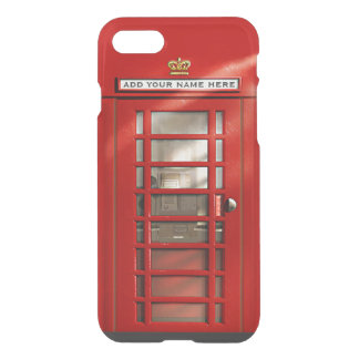 Funda Para iPhone 8/7 Cabina de teléfono roja británica divertida