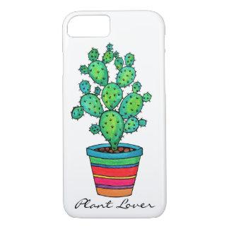 Funda Para iPhone 8/7 Cactus magnífico de la acuarela en pote hermoso