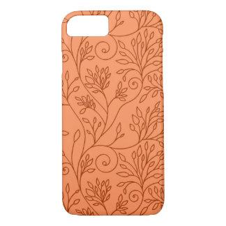 Funda Para iPhone 8/7 Caja anaranjada floral elegante del iPhone 7