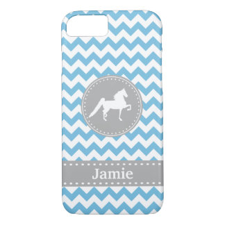 Funda Para iPhone 8/7 Caja azul adaptable del iPhone 7 de Saddlebred