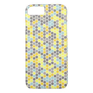 Funda Para iPhone 8/7 Caja azul, amarilla, gris del teléfono del mosaico