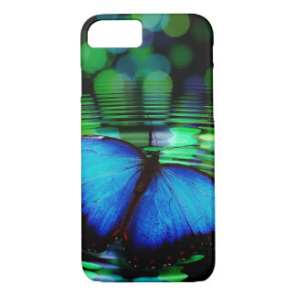 Funda Para iPhone 8/7 Caja azul del iPhone 7 de la mariposa