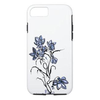 Funda Para iPhone 8/7 Caja azul del iPhone de la flor