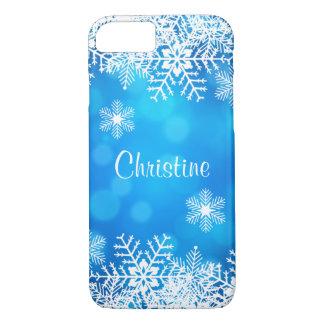 Funda Para iPhone 8/7 Caja blanca del iPhone 7 de los copos de nieve del