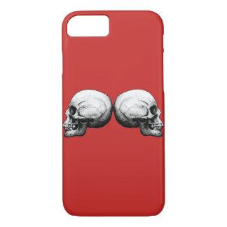Funda Para iPhone 8/7 Caja blanco y negro del iPhone del cráneo del