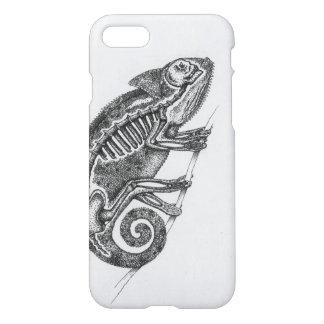 Funda Para iPhone 8/7 Caja blanco y negro del teléfono del camaleón