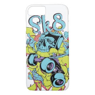 Funda Para iPhone 8/7 Caja brillante del teléfono del patín Sk8