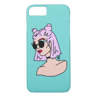 Funda Para iPhone 8/7 Caja cabelluda púrpura del iPhone 7 de la turquesa