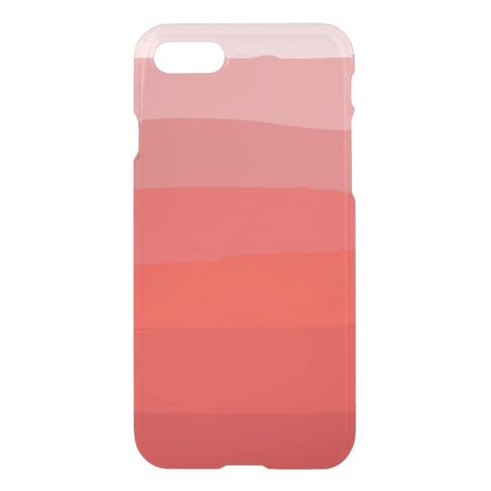 Funda Para iPhone 8/7 Caja clara anaranjada del iPhone de Ombre