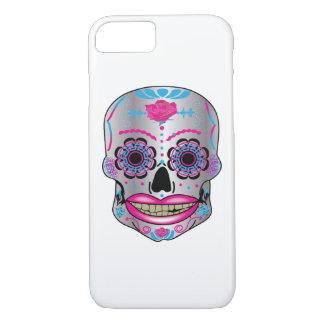 Funda Para iPhone 8/7 Caja color de rosa del teléfono del cráneo del