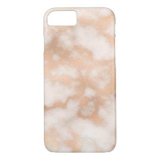 Funda Para iPhone 8/7 Caja color de rosa del teléfono del mármol del oro