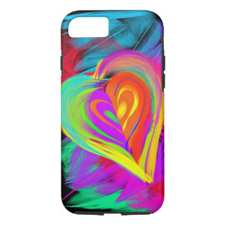 Funda Para iPhone 8/7 Caja colorida del iPhone 7 del Doodle del corazón