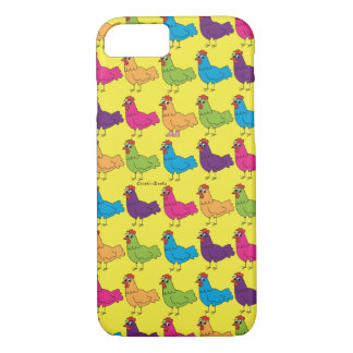 Funda Para iPhone 8/7 Caja colorida del teléfono celular de los pollos