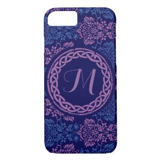 Funda Para iPhone 8/7 Caja con monograma floral céltica del teléfono