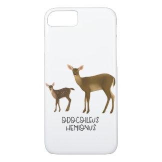 Funda Para iPhone 8/7 Caja de cola negra del teléfono de los ciervos