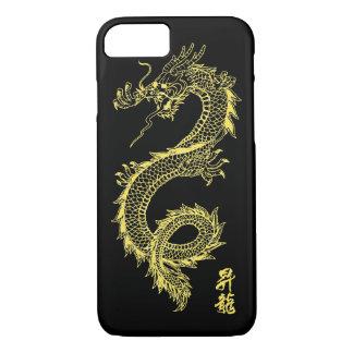 Funda Para iPhone 8/7 caja de oro del teléfono del dragón del iPhone 7