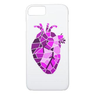 Funda Para iPhone 8/7 Caja de piedra anatómica del teléfono del corazón