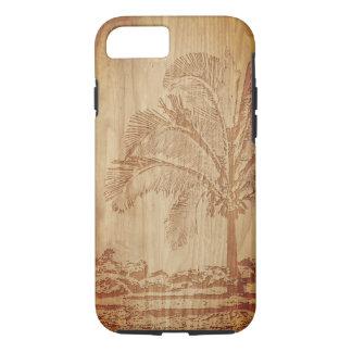 Funda Para iPhone 8/7 Caja de talla de madera del teléfono de la palma
