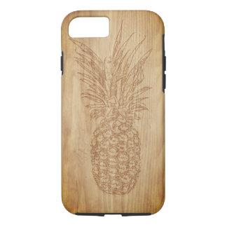 Funda Para iPhone 8/7 Caja de talla de madera del teléfono de la piña