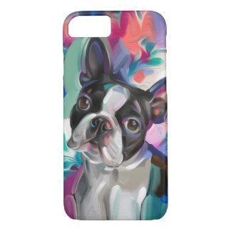 Funda Para iPhone 8/7 Caja del teléfono del arte del perro de Boston
