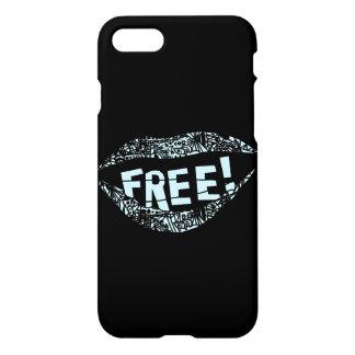 Funda Para iPhone 8/7 Caja del teléfono del discurso libre