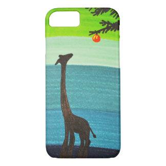 Funda Para iPhone 8/7 Caja del teléfono del Doodle de la jirafa