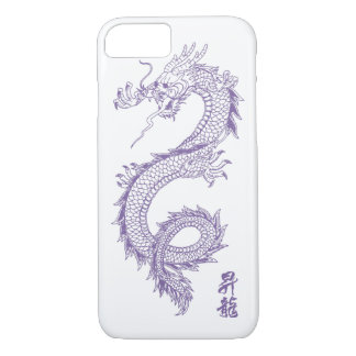 Funda Para iPhone 8/7 caja del teléfono del dragón de la púrpura del