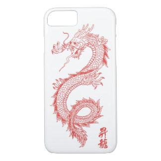 Funda Para iPhone 8/7 caja del teléfono del dragón del rojo del iPhone 7