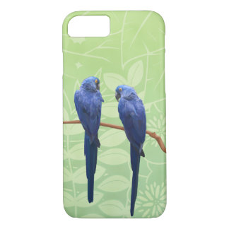 Funda Para iPhone 8/7 Caja del teléfono del dúo del Macaw del jacinto