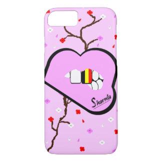Funda Para iPhone 8/7 Caja del teléfono móvil de Bélgica de los labios