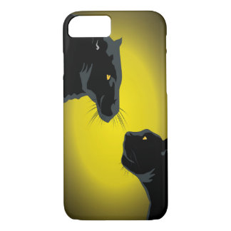 Funda Para iPhone 8/7 Caja doble del iPhone 7 de las panteras negras