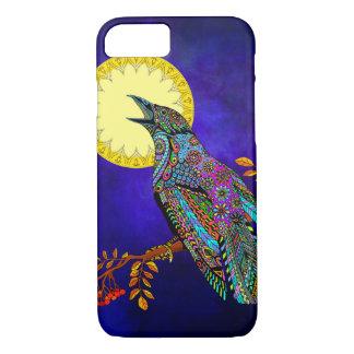 Funda Para iPhone 8/7 Caja eléctrica del teléfono del cuervo