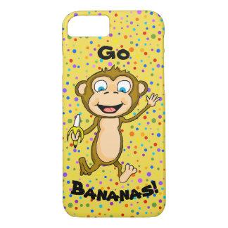 Funda Para iPhone 8/7 Caja feliz del teléfono celular del mono