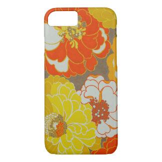 Funda Para iPhone 8/7 Caja floral anaranjada y amarilla del iPhone del