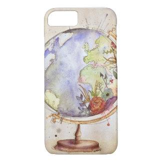 Funda Para iPhone 8/7 Caja floral del globo de la acuarela