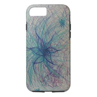 Funda Para iPhone 8/7 Caja fresca del teléfono de la flor del color