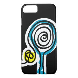 Funda Para iPhone 8/7 Caja negra del iPhone 7 para el jugador de tenis