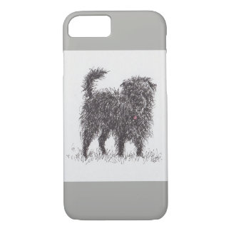 Funda Para iPhone 8/7 Caja negra del teléfono de Terrier