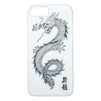 Funda Para iPhone 8/7 caja negra del teléfono del dragón del iPhone 7