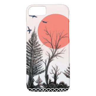 Funda Para iPhone 8/7 caja oscura del iphone del bosque