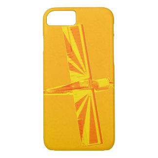 Funda Para iPhone 8/7 Caja plana amarilla y anaranjada del iPhone 7 de