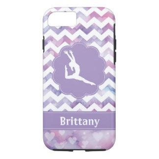 Funda Para iPhone 8/7 Caja púrpura del teléfono celular de la gimnasia